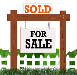 """A """"real estate sold"""" sign"""