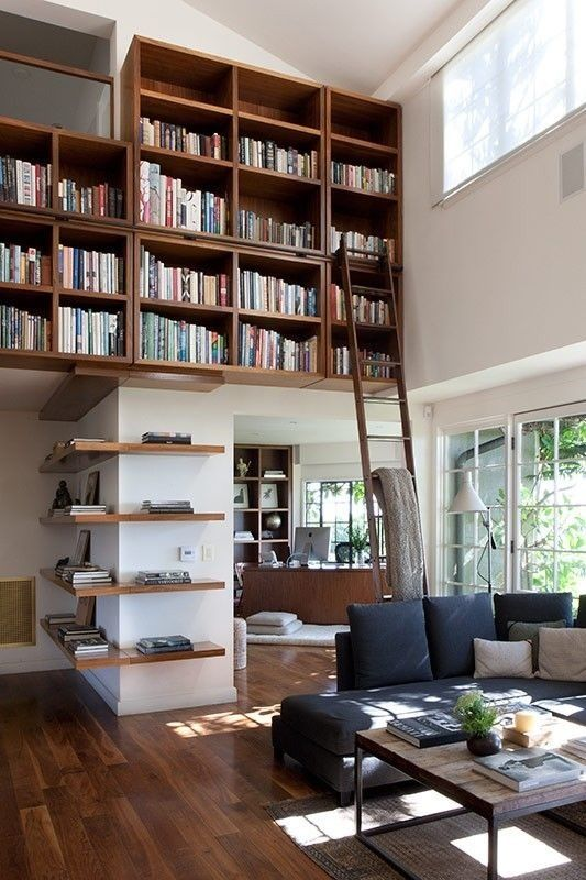 A bookcase inside a house
